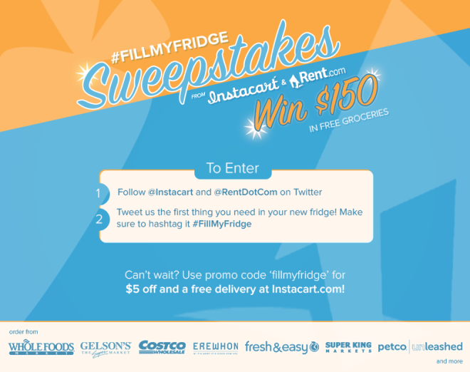 Fill My Fridge Sweepstakes Landing Page v4
