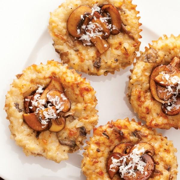 PCC mushroom risotto cakes