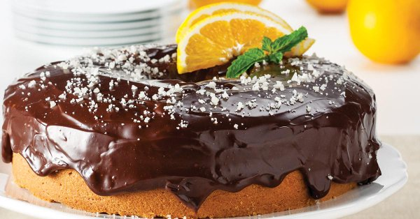 Orange buttermilk chocolate ganache cake